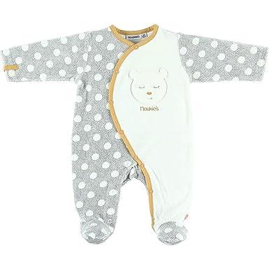 dd023a117109b Noukie s Noukies Z891134 Pyjama grenouillère en Velours Bébé Fille ...