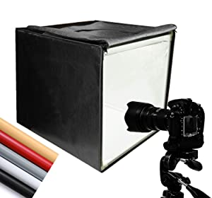 "Finnhomy Professional Portable Photo Studio Photo Light Studio Photo Tent Light Box Table Top Photography Shooting Tent Box Lighting Kit, 16"" x 16"" Cube"