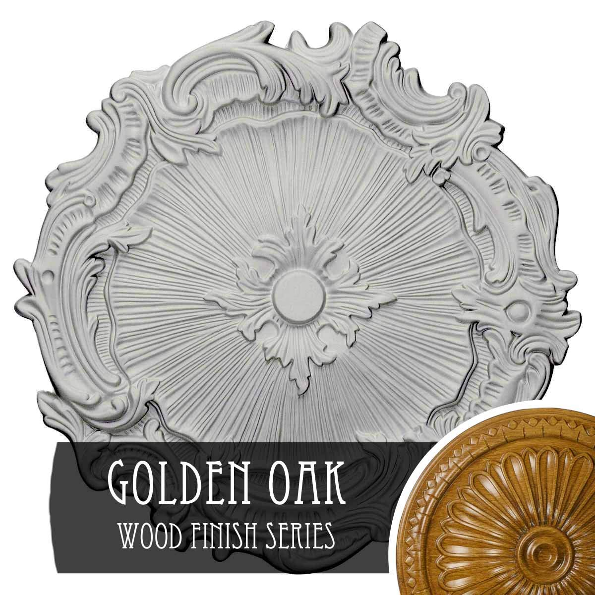 Ekena Millwork CM16PLGOS Plymouth Ceiling Medallion, Golden Oak