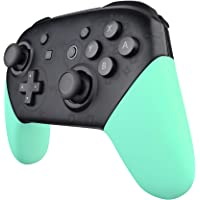 eXtremeRate Mint Green Replacement Handle Grips for Nintendo Switch Pro Controller, Soft Touch DIY Hand Grip Shell for…