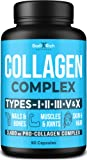 Collagen Peptides Pills - Premium 3400mg Capsules (Types I, II, III, V, X) - Collagen Vitamins for Hair, Skin & Nails…