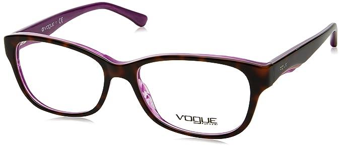 VOGUE Monture lunettes de vue VO 2814 2019 Top Havane perle violette 53MM 0ab3a36e2495