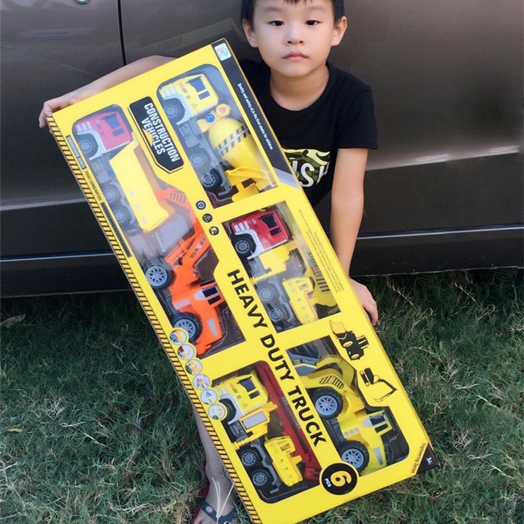 De gran tamaño de inercia coche juguete de los niños de simulación portátil de juguete coche caja de regalo grande conjunto , 6