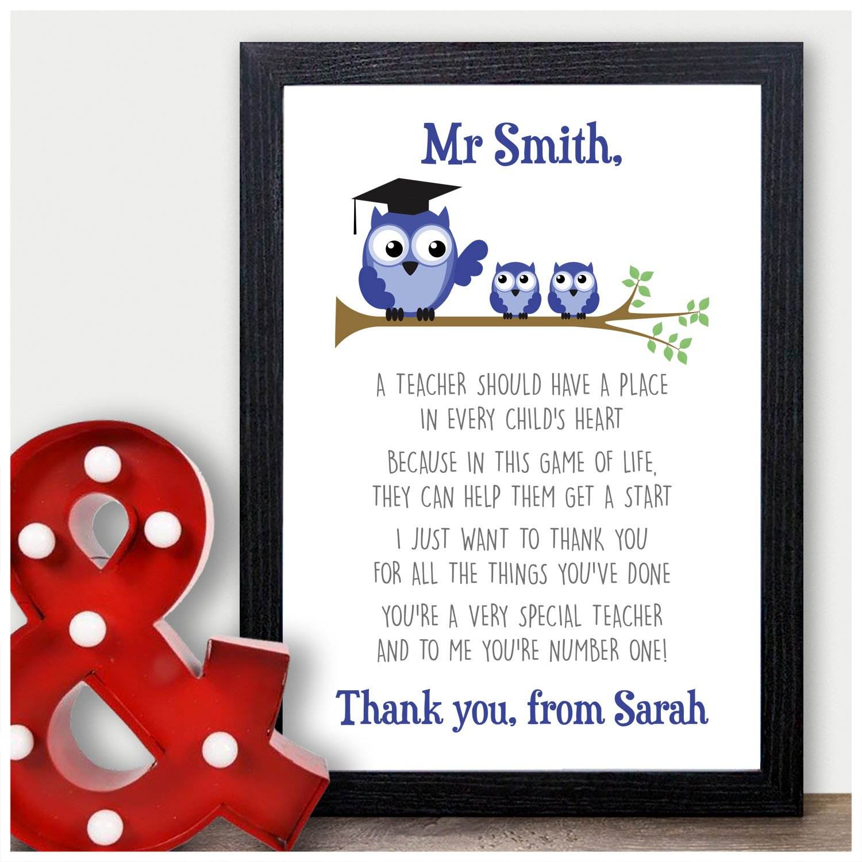 Best Teacher Gift  Thank You Gift For Teacher Personalised