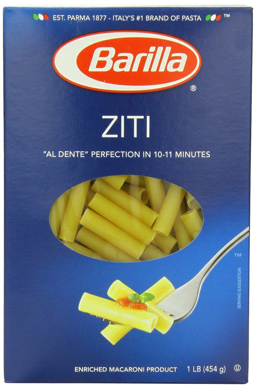 Barilla Ziti Pasta, 16 Ounce Boxes (Pack of 4) by Barilla