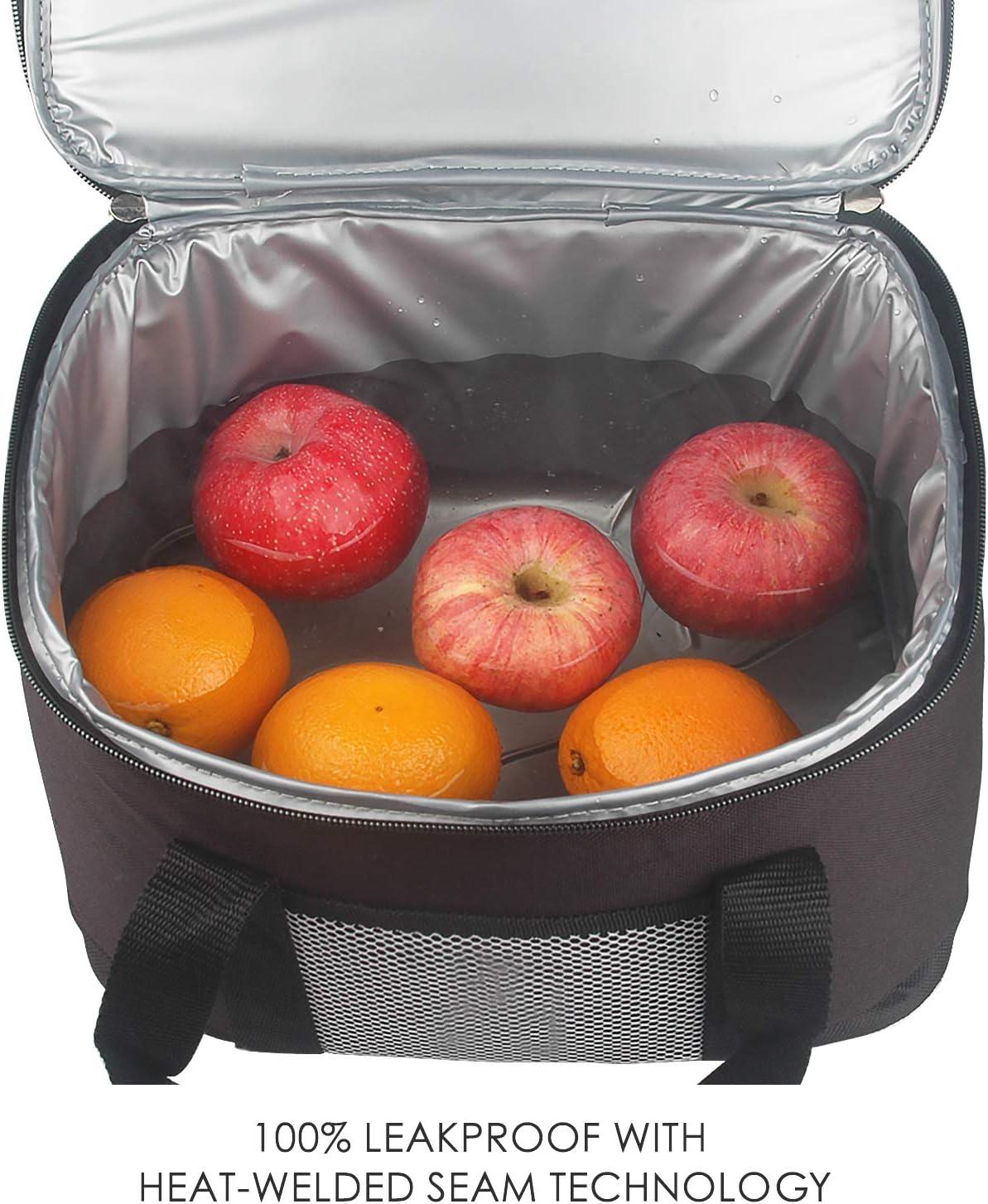 Felokont Sac Isotherme Repas Adultes Enfants Lunch Bag Sac /à D/éjeuner pour Travail Ecole Travail Pique-Nique 10L Rose