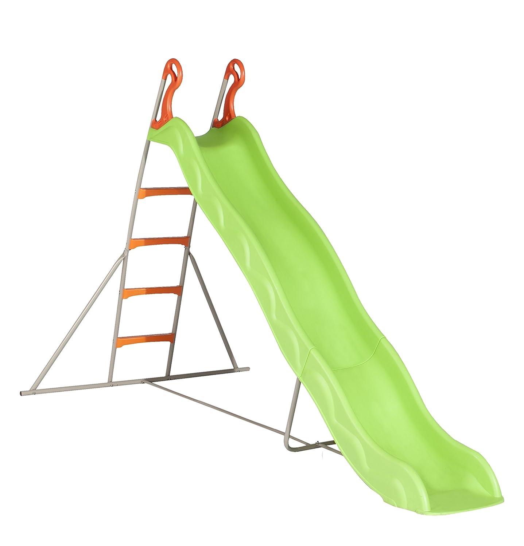 Wellenrutsche Trigano Kunststoff mit Leiter grün