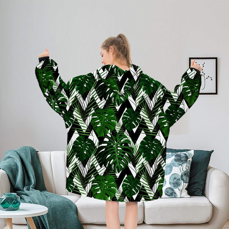 Kapuzenpullover Sweatshirt Tragbare Decke Übergroß One Size Large Front Pocket Weiche Decke Kapuzenpullover A