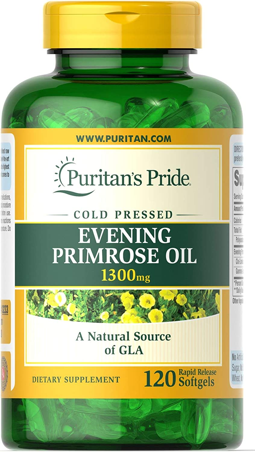 Amazon.com: Puritan 's Pride Evening Primrose – 1300 mg ...