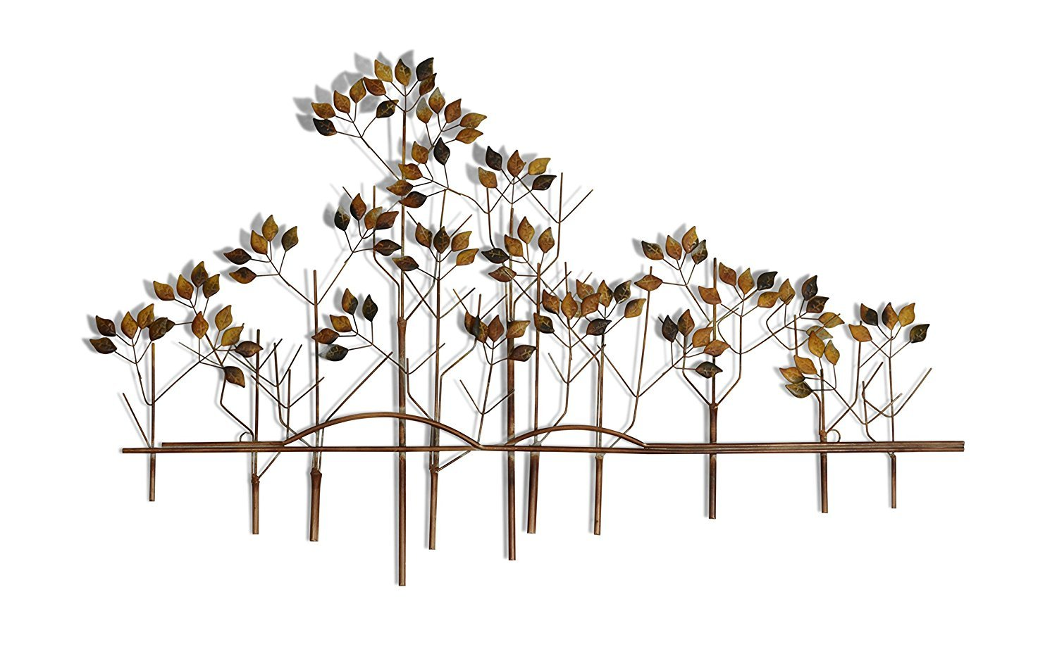 39 Inches Wide x 24 Inches High Metal Wall Art Tree of Life Metal Wall Sculpture