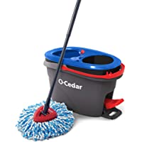 O-Cedar EasyWring RinseClean Microfiber Spin Mop & Bucket Floor Cleaning System, Grey