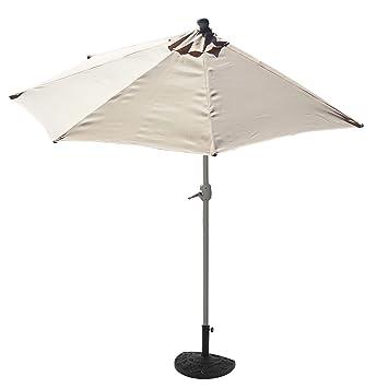 mendler demi parasol aluminium parla pour balcon ou terrasse ip 50 260cm