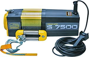Superwinch 1475200 S7500 12V 7500 lb Winch with Steel Rope (Stainless Steel Roller Hawse, 30' Remote)