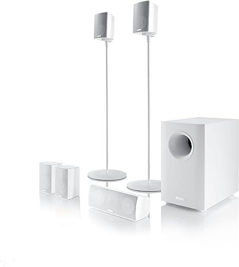 Canton Movie 160 Lautsprechersystem Musikbelastbarkeit 120 Watt 5 1 1 Stück Weiß Audio Hifi