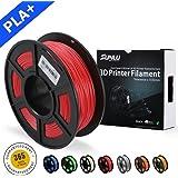 SUNLU 3D Printer Filament PLA Plus, 1.75mm PLA Filament, 3D Printing Filament Low Odor, Dimensional Accuracy +/- 0.02 mm, 2.2 LBS (1KG) Spool 3D Filament for 3D Printers & 3D Pens, Light Red PLA+