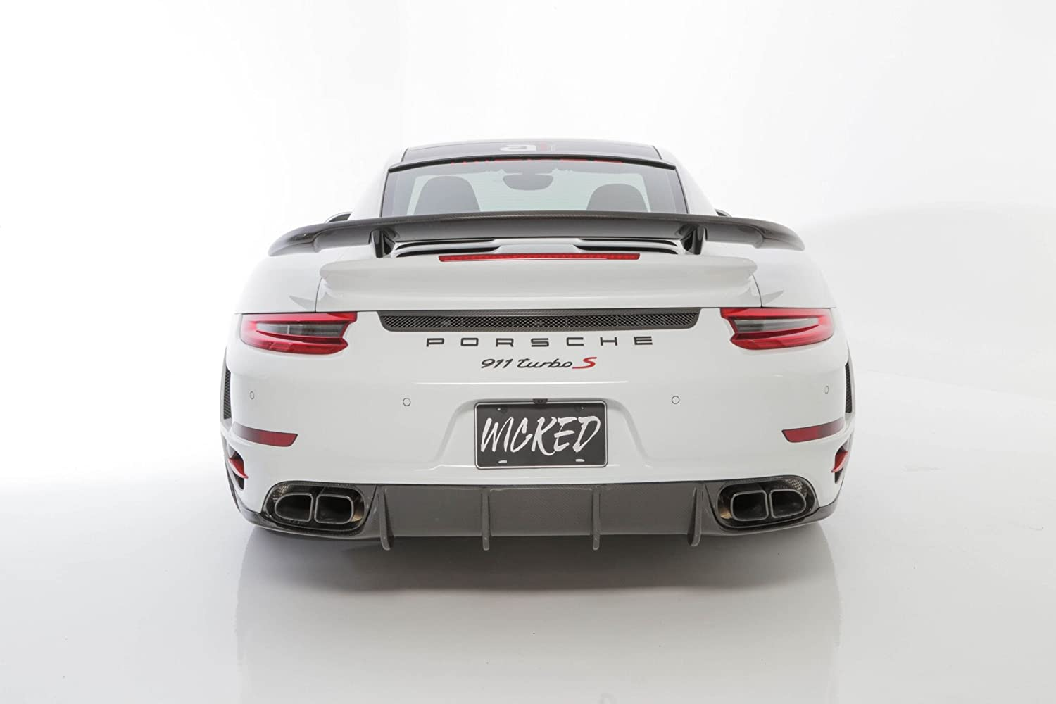 Amazon.com: Porsche Turbo / S Aggressive Rear bumper w/ 991.2 LED Taillights: Automotive