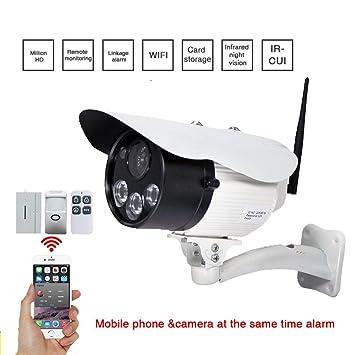 Cámara de vigilancia de Wifi / cámara de seguridad sin hilos de WiFi, alarma Wifi