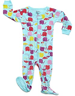 b3629c2737 DinoDee Baby Girls Footed Pajamas Sleeper 100% Cotton Kids Pjs (6 Months-5