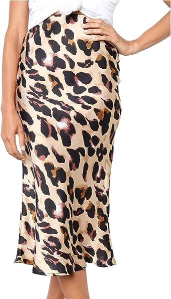 Faldas De Leopardo De Cintura Alta Bodycon Ceñido Lápiz De ...