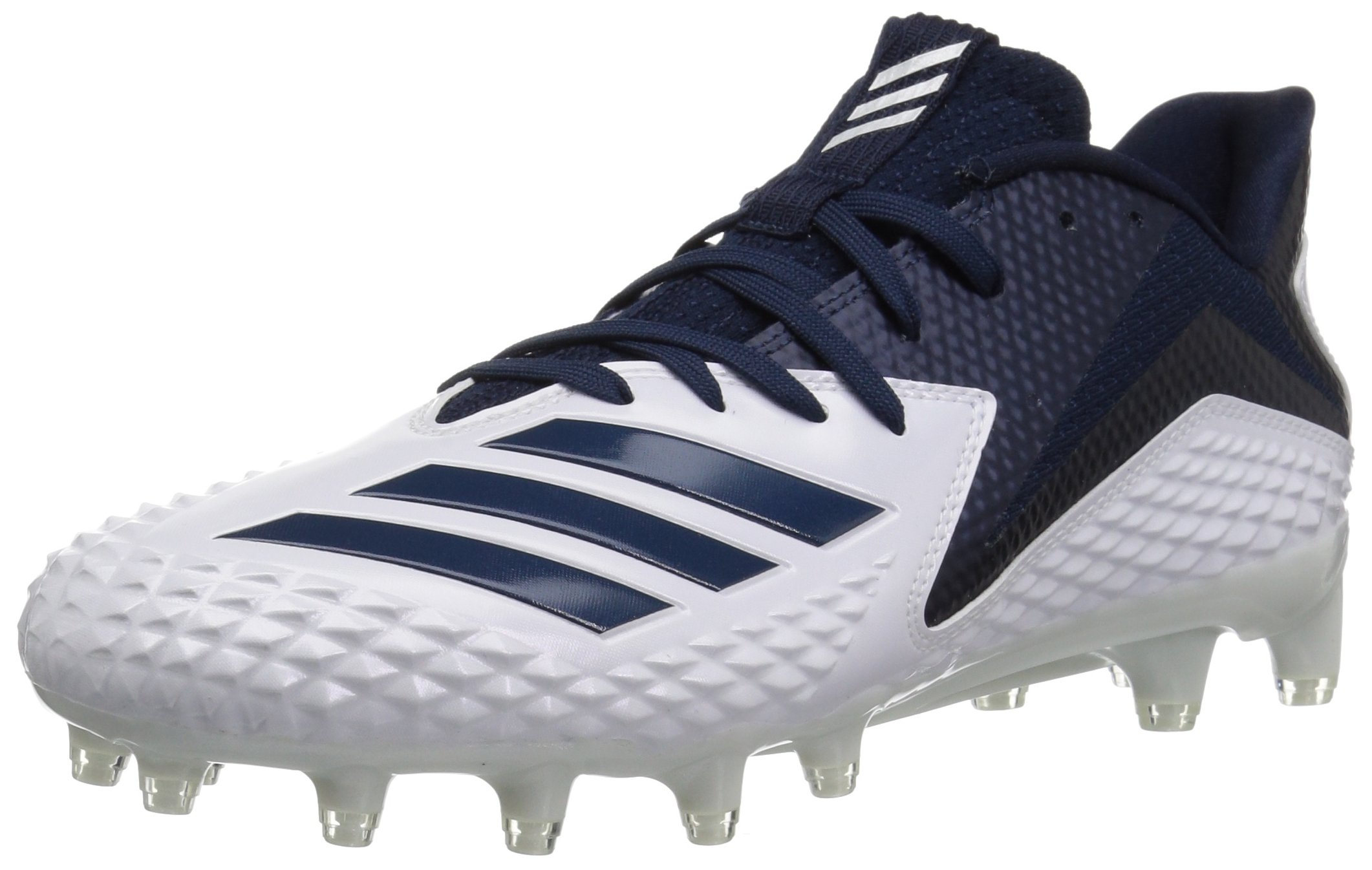 adidas Men's Freak X Carbon Mid Football Shoe, White/Collegiate Navy/Collegiate Navy, 10 M US by adidas