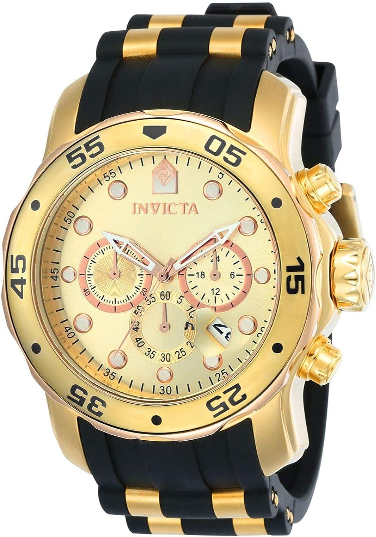 Invicta 17884 Pro Diver Reloj para Hombre acero inoxidable Cuarzo Esfera oro