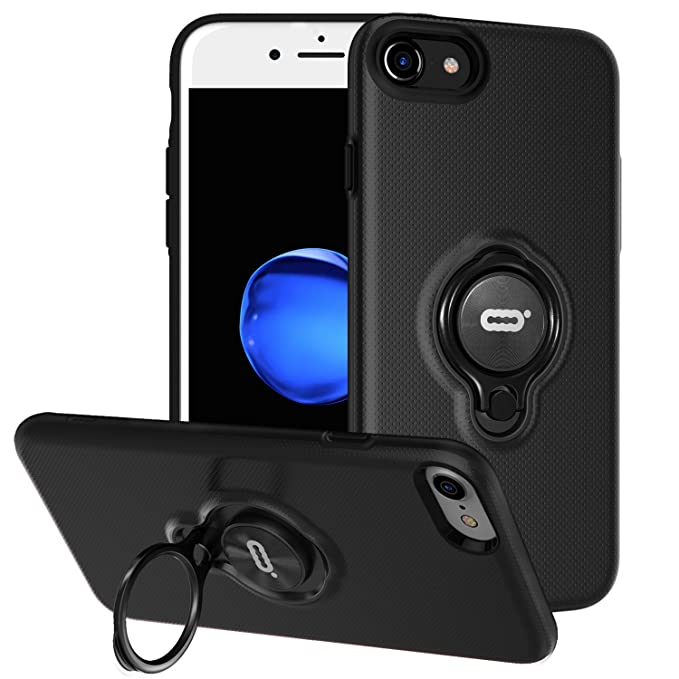 Amazon Com Iphone 8 Case Iphone 7 Case With Ring Holder Kickstand