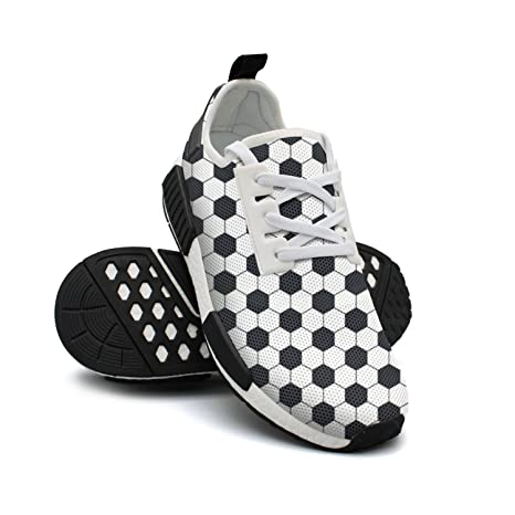 1cc7fb234138 Image Unavailable. Image not available for. Color: Womens Soccer Ball Black  And White Sneakers Casual ...