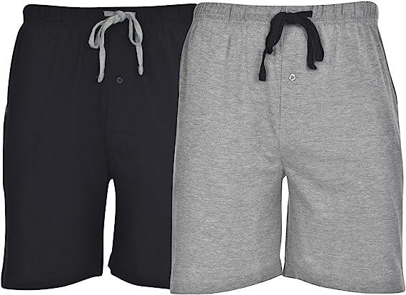 INSIGNIA Mens Poly Cotton Pyjamas Lounge Short Bottoms Check 2 Pack