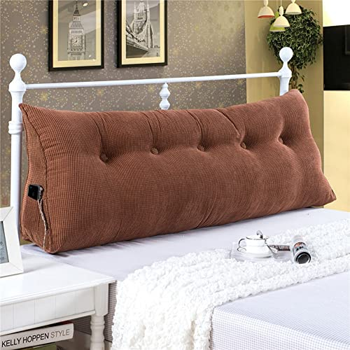 VERCART Sofa Bed Large Filled Triangular Wedge Cushion Bed Backrest  Positioning Support Pillow Reading Pillow Office