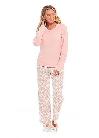 f94c736b312 Womens Pyjamas PJs Set Nightwear Loungewear Supersoft Fleece Pyjama Slipper  Set Peach Rabbit Size 8-