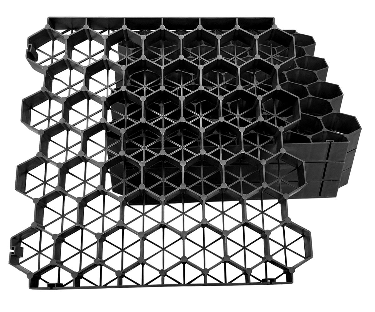 Techno Earth ( 1.9'' Depth ) Permeable Grass Pavers for your grass parking lots, access roads, driveways, fire lanes, RV and boat storage pads - ( Pack of 4 - 11 Sf )