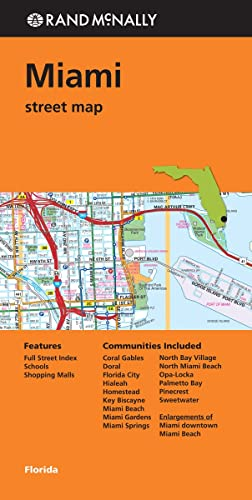 Rand McNally Street Map Miami, Florida