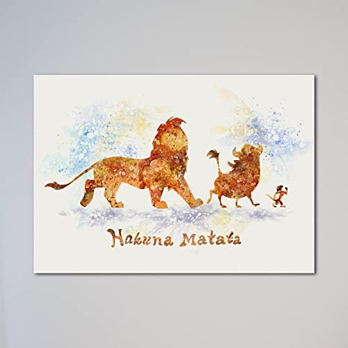97a4b92fd Amazon.com: The Lion King Simba Timon Pumbaa Hakuna Matata Print ...
