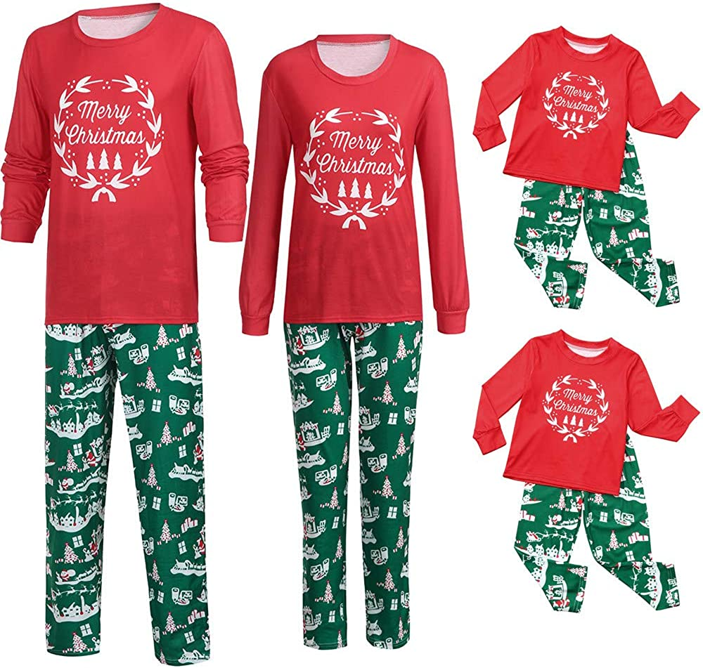 Inverlee Christmas Family Matching Christmas Pajamas PJs Sets Outfits Sleepwear