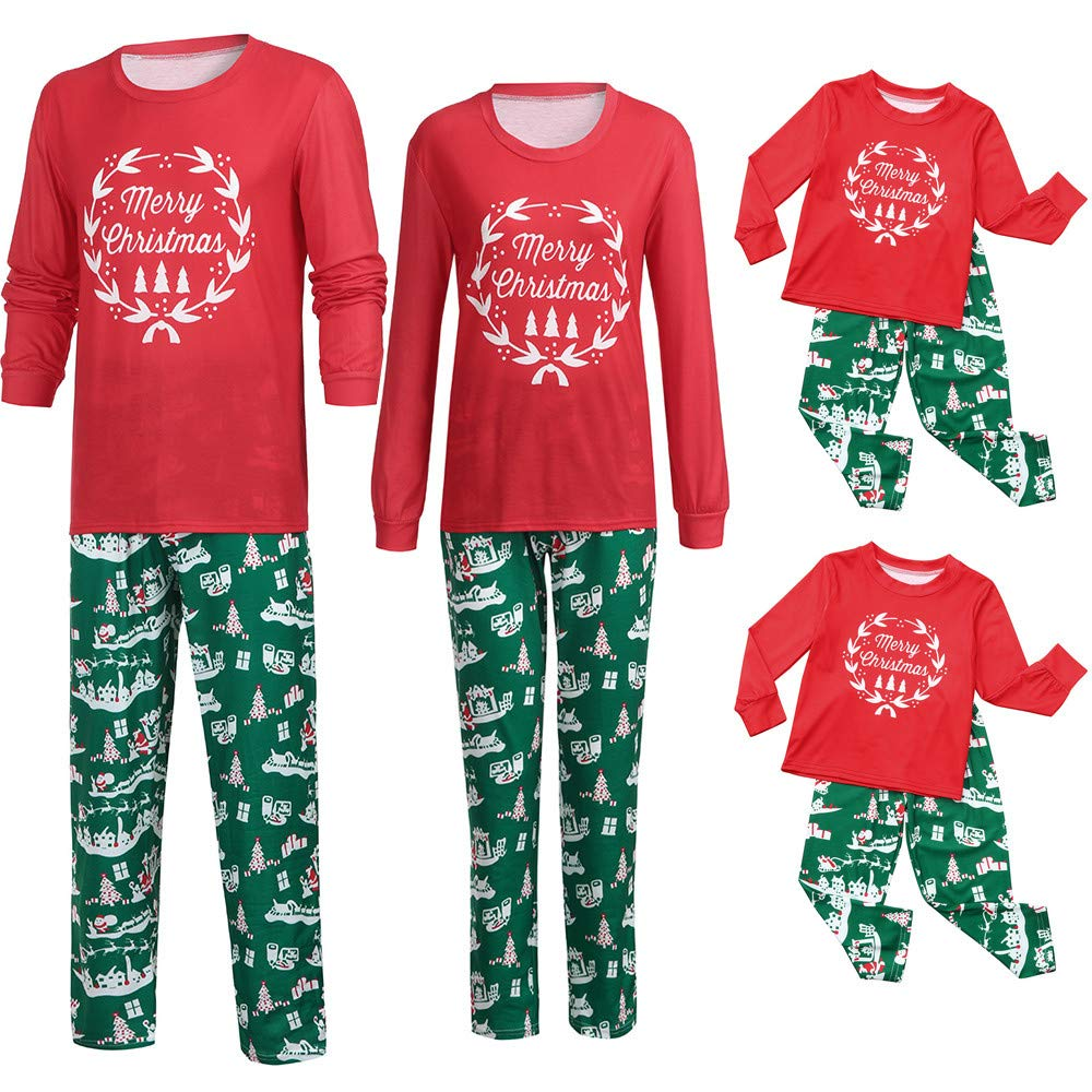 Family Matching Pajamas Casual Sleepwear Christmas Family Indoor Shirt Pants Nightwear Pajamas Matching Sets