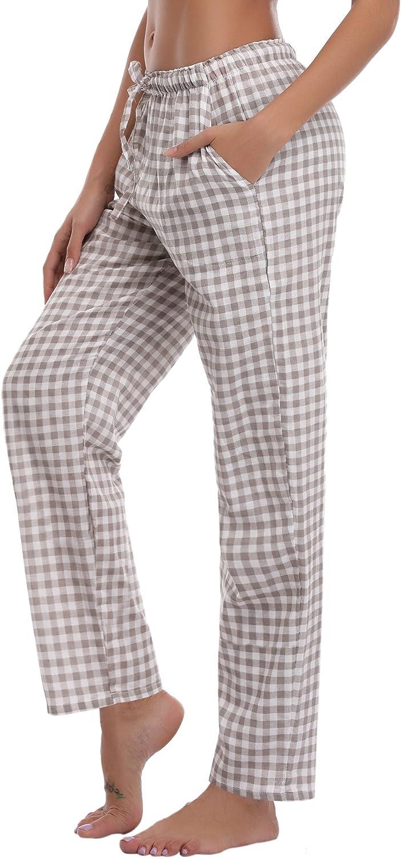 Partes de Abajo de Pijamas para Mujer Aiboria Pantalones de Pijama Mujer Punto de Ola Algod/ón