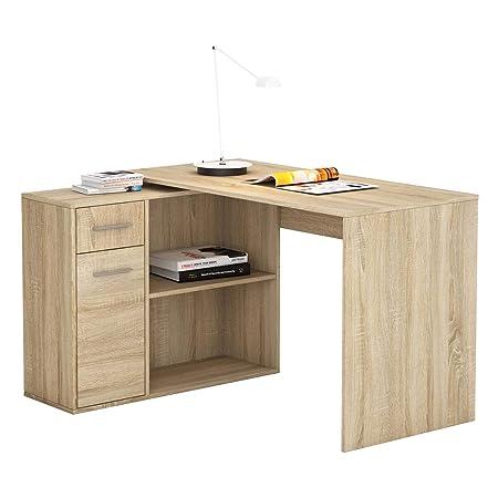 Mesa de Escritorio esquinera Isotta, diseño Moderno, Mesa de ...