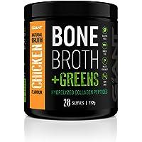 Giant Sports Bone Broth Plus Greens - Bone Broth Protein Powder - Natural Chicken Broth Flavour, 28 Servings, 252 grams