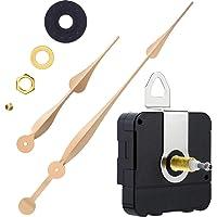 High Torque Quartz Clock Movement Clock Replacement Mechanism with 12 Inch Long Spade Hands for DIY Clock (Gold, Shaft…