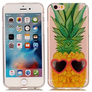 Iphone 6S Case, Apple iphone 6 TPU Case - Funny Pineapple Pattern Soft TPU Gel Slim Transparent Clear Back Protective Skin Cover Scratch-proof for Apple iphone 6S iphone 6
