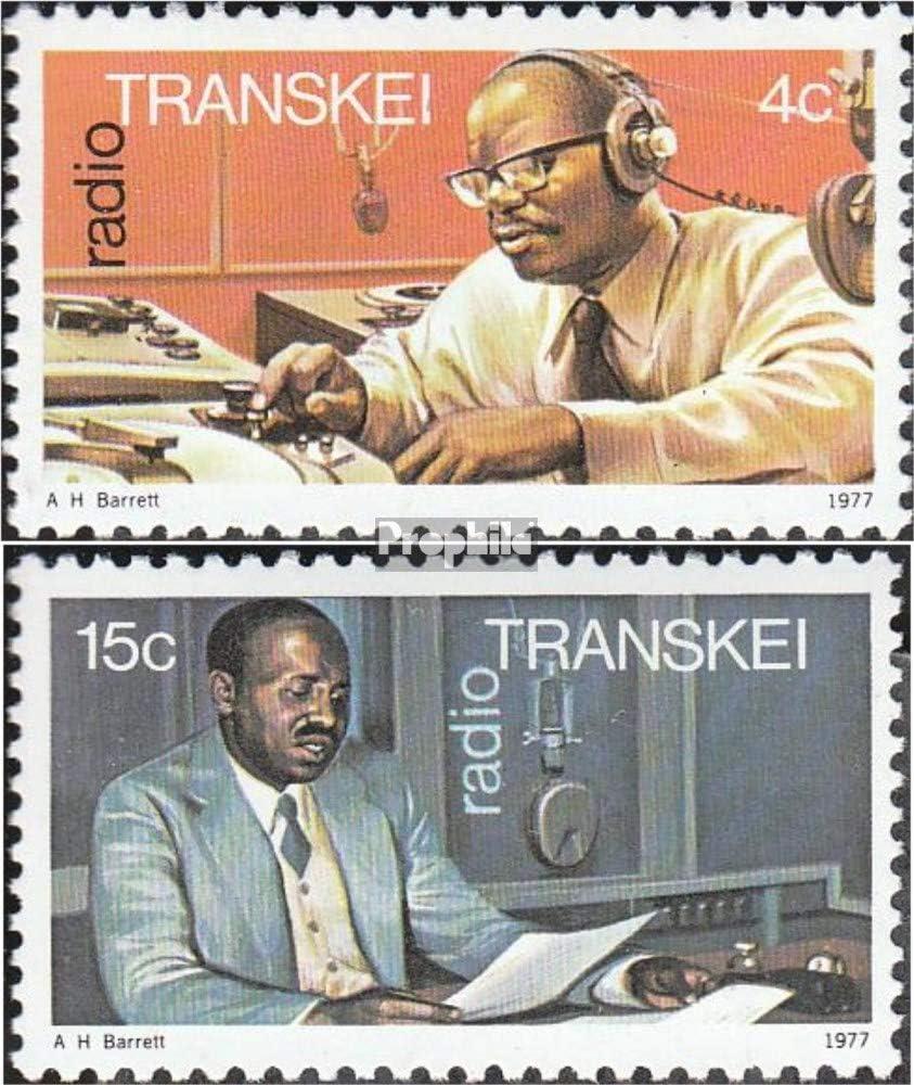1977 Radio Transkei 28-29 Prophila Collection S/üdafrika Briefmarken f/ür Sammler kompl.Ausg.