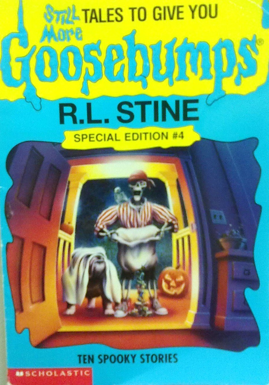 Still more tales to give you goosebumps ten spooky stories still more tales to give you goosebumps ten spooky stories goosebumps special edition no 4 r l stine 9780590739085 amazon books fandeluxe Gallery