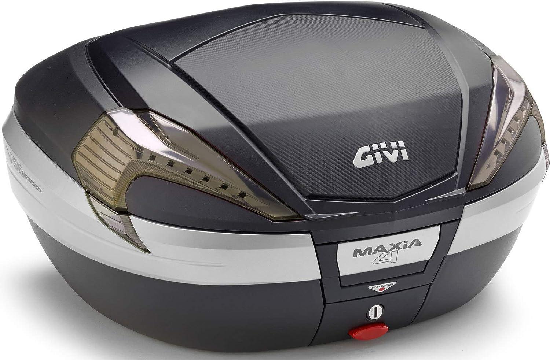 Givi V56NN Maxia 4 Monokey Topcase in Carbon Optik Roten Reflektoren