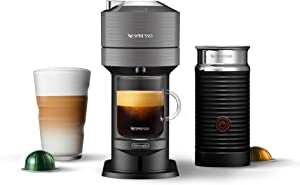 Nespresso by De'Longhi ENV120GYAE Vertuo Next Coffee and Espresso Maker, with Aeroccino Milk Frother, Dark Gray