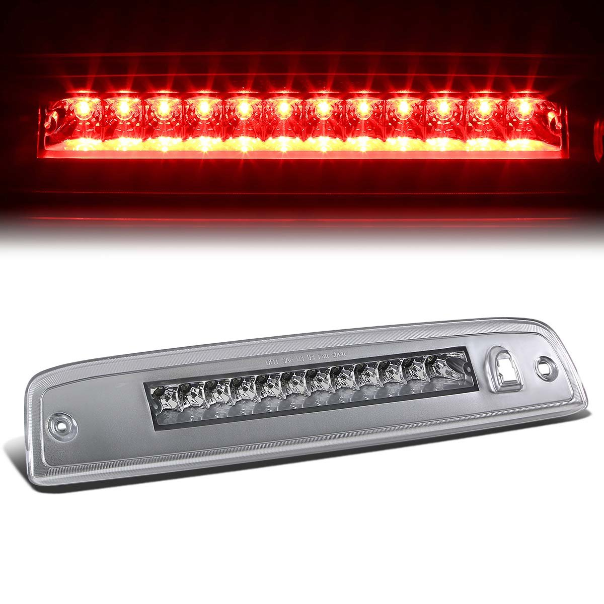 For Ford Expedition U222-U324 / Lincoln Navigator U228-U326 High Mount LED 3rd Brake Light (Chrome Housing) Auto Dynasty