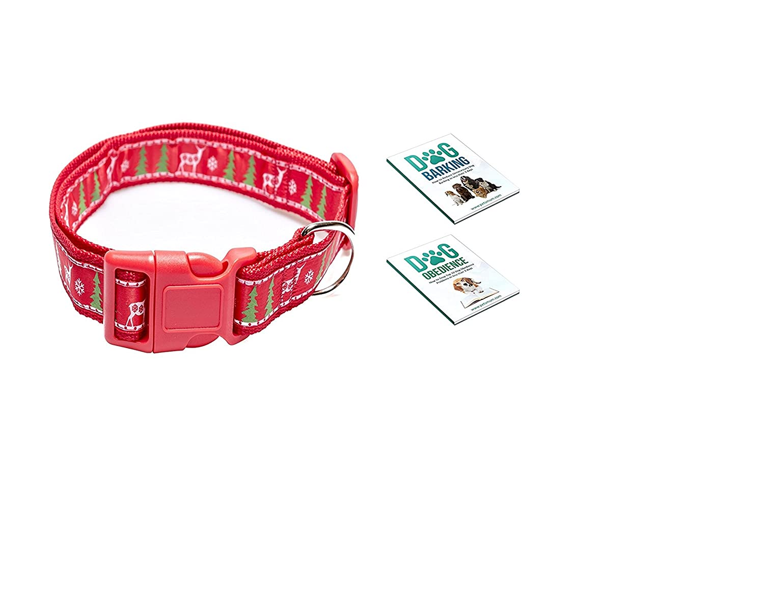 Christmas Dog Collar for Medium to Large Dog by Pet's Mum Offer Adjustable Padded Holiday Pet Collar for Dogs Heavy Duty   3 Bonus Bark Control E-Book   Your Dog Deserve It
