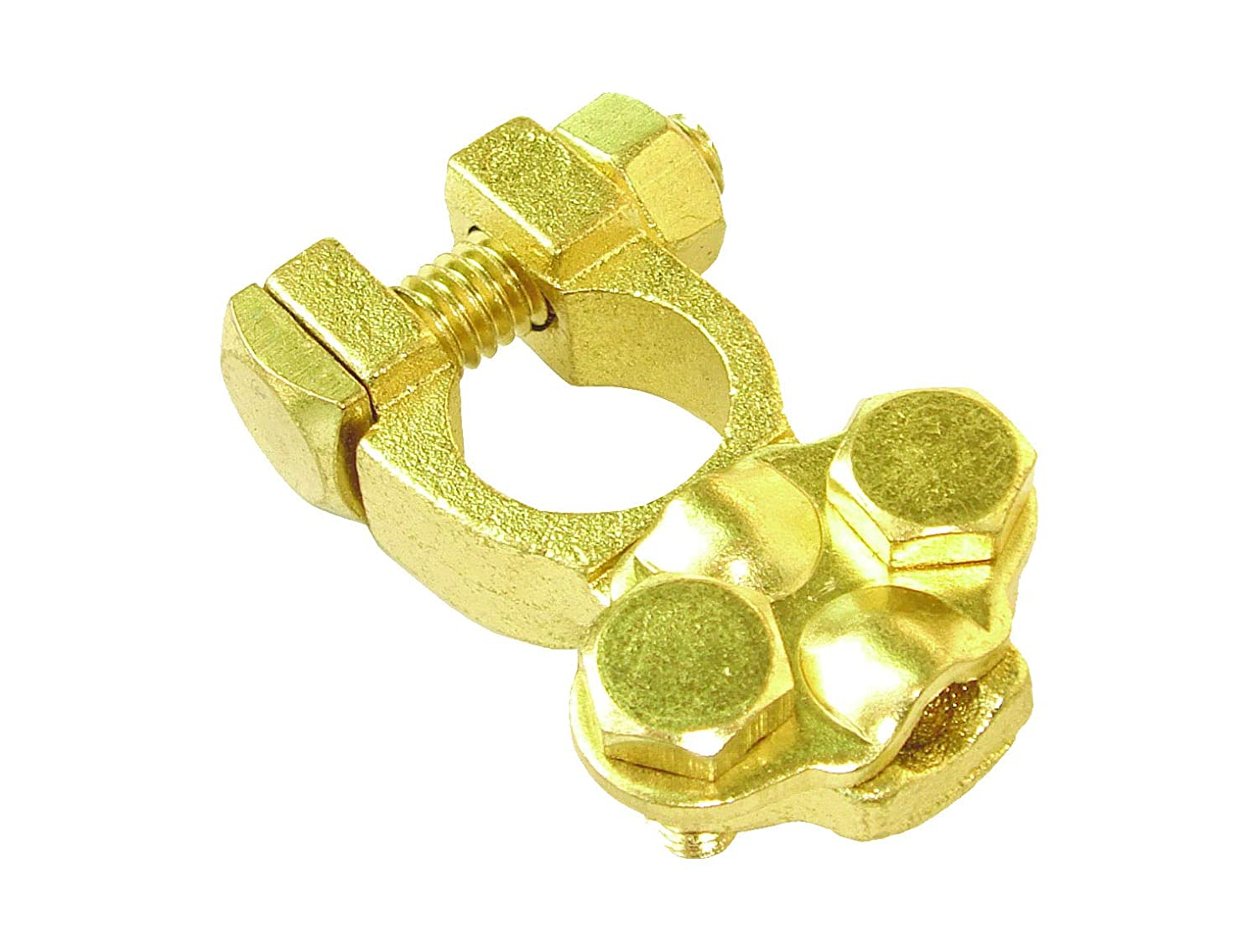Uriah Products UV005120 2 AWG to 4//0 Cable 1⅛ Post Battery Terminal Solid Brass for Marine use