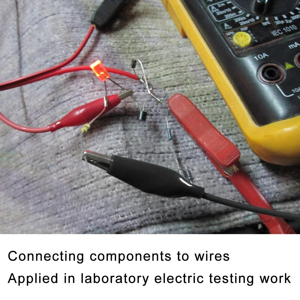 EAONE 4 Groups Test Leads Set with Alligator Clips, Double-end Test ...