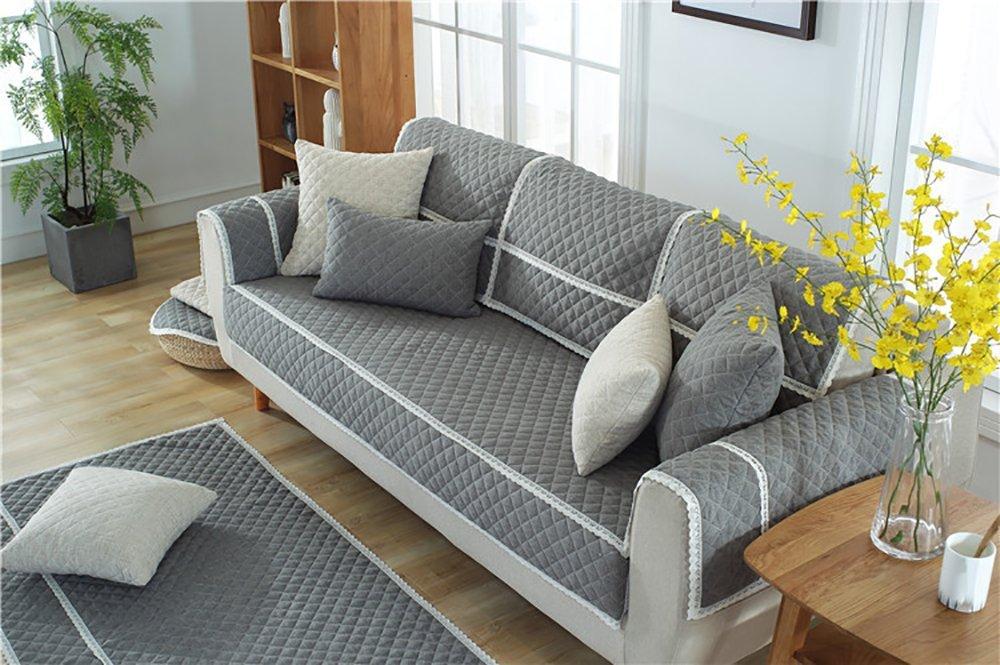 Sofaabdeckung Sofa Cover Soft Rutschfeste Moderne Hochwertige Ecke Schutzhülle Für Wohnzimmer Sofa-Überwürfe,110×160