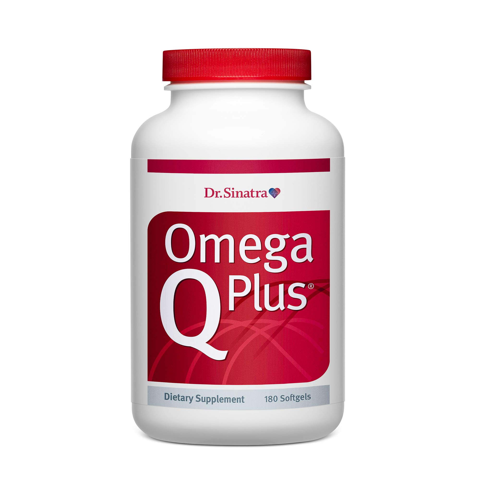 Dr. Sinatra's Omega Q Plus– Omega-3 and CoQ10 Supplement Delivers Everyday Heart Health Support with 50 mg of CoQ10 for Healthy Blood Flow, Blood Pressure and Provides Antioxidant Power (180 softgels)